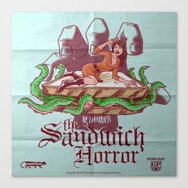 H.P. LoveKRAFT's  The Sandwich Horror Canvas Print