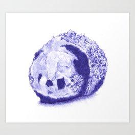 Panda Ice Cream Art Print