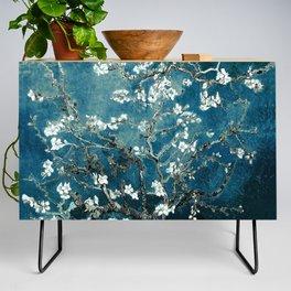 Van Gogh Almond Blossoms : Dark Teal Credenza