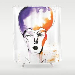 Butch Queen with Fabulous Hair Shower Curtain
