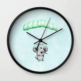 Cutie Parachuting Elephant Wall Clock