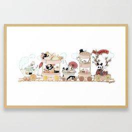 The Happy Dim Sum Train Framed Art Print