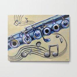 Flute Blues Metal Print