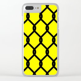 Chain-Link Fence (from Design Machine archives) Clear iPhone Case