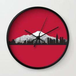 City of the Rising Sun Wall Clock
