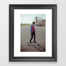 long boarding  Framed Art Print
