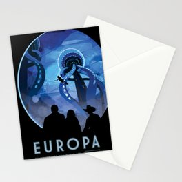 NASA Retro Space Travel Poster #4 - Europa Stationery Cards