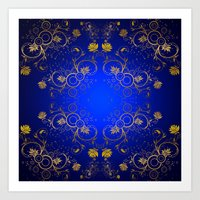 floral pattern Art Prints featuring Floral Pattern by Looly Elzayat