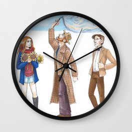 AMY, VINCENT & THE DOCTOR Wall Clock
