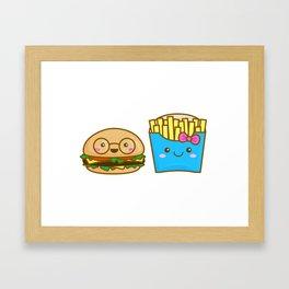 We go together like burger and fries Framed Art Print
