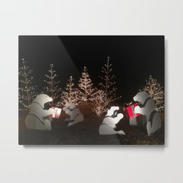 Polar Bear Christmas Metal Print