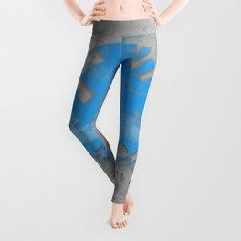 Metal and Blue Leggings