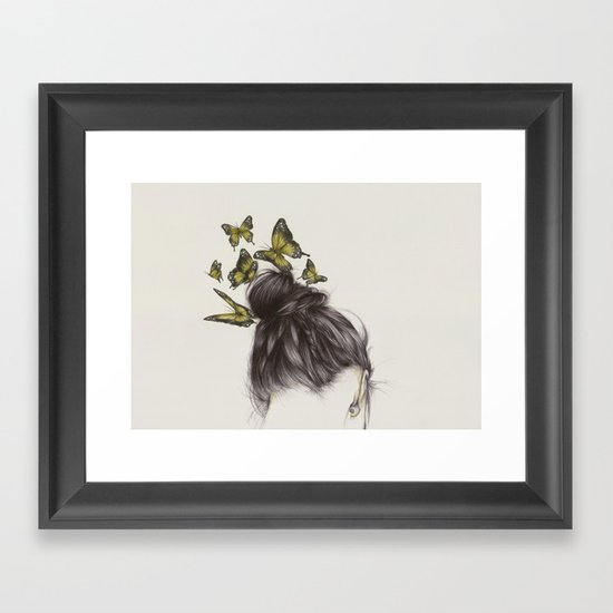 Hair II Framed Art Print