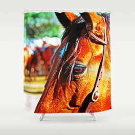 Horse-1-Color Shower Curtain