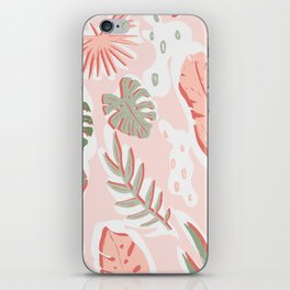 Tropical cut out pattern iPhone Skin