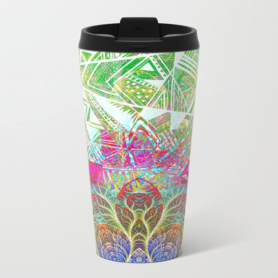 Abstract 1 Metal Travel Mug