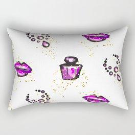 Purple lips with perfume Rectangular Pillow