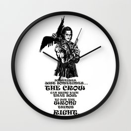 The Crow: Eric Draven Wall Clock