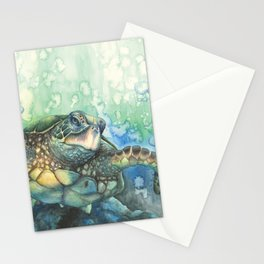 Sea Turtle Glides Stationery Cards