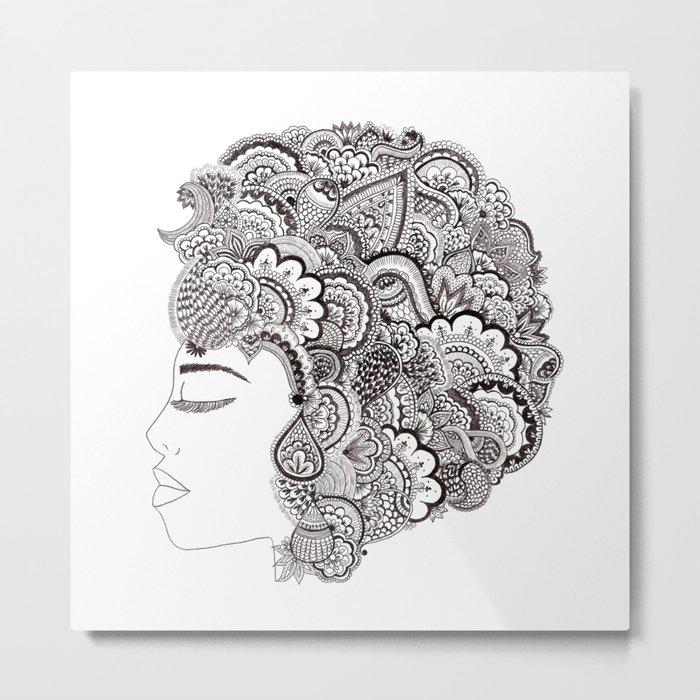 her hair Metal Print