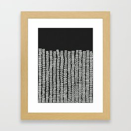 White Bricks Framed Art Print