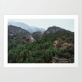 Nepal Series | Bridge to Terebitha, Himalayas Art Print