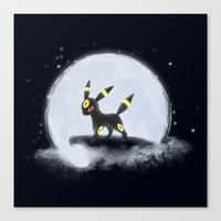 umbreon Canvas Prints featuring Umbreon by EnaGrapher