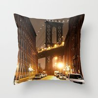 brooklyn Throw Pillows featuring Brooklyn by Rochana Dubey