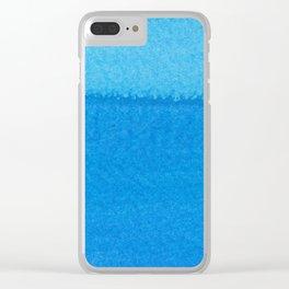 Blue Ocean Up Close Clear iPhone Case