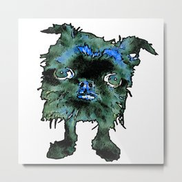 Lugga The Friendly Hairball Monster For Boos Metal Print