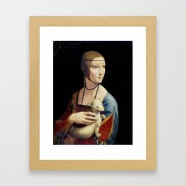 The Lady with an Ermine - Leonardo da Vinci Framed Art Print