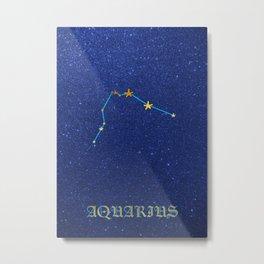 Constellations - AQUARIUS Metal Print