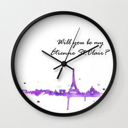 be my etienne st. clair? Wall Clock