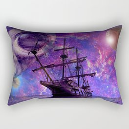 Sailing the Galaxy Rectangular Pillow