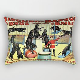 Ringling Bros and Barnum & Bailey Circus Black Leopards Vintage Poster Rectangular Pillow