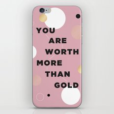 more than gold iPhone & iPod Skin
