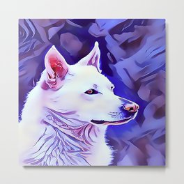 The White German Shepherd Metal Print
