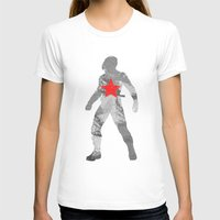 winter soldier T-shirts featuring Winter Soldier (Bucky Barnes) by MajesticSeahawk Designs