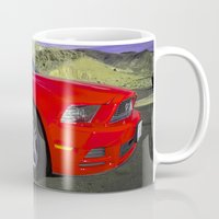 mustang Mugs featuring Mustang Coupe by Rob Hawkins Photography