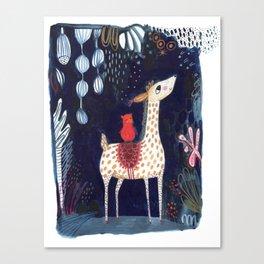 midnight blue vicuna Canvas Print