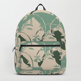 Stencil Faces Backpack