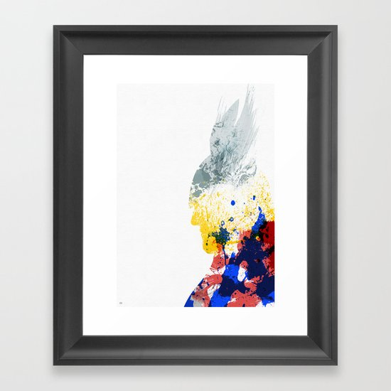 Nordic Star Framed Art Print