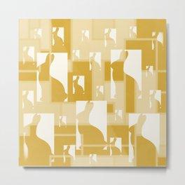 Bunnies of Gold Metal Print