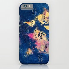 world map oceans and continents 2 iPhone 6s Slim Case