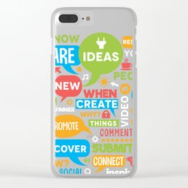 Social Media Infographic Style Design Clear iPhone Case