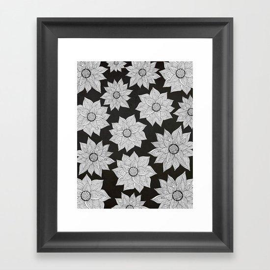 Elegant Flora Framed Art Print