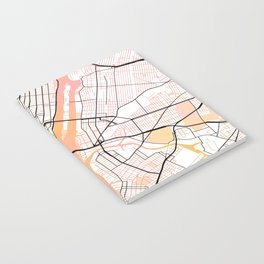 New York Street Map Color Notebook