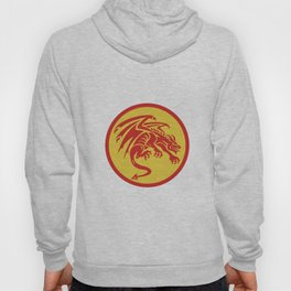 Dragon Gargoyle Crouching Circle Retro Hoody