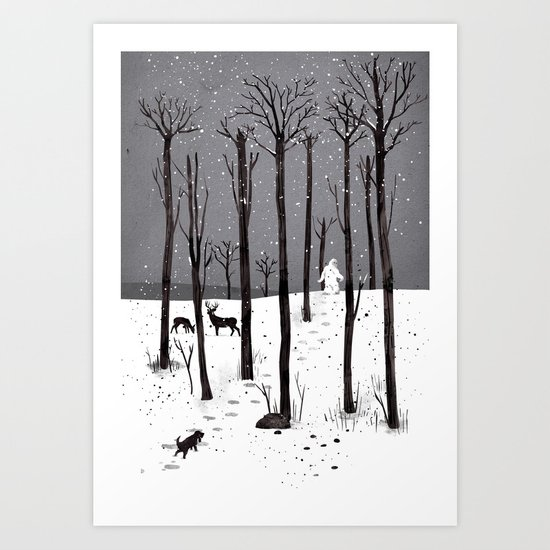 Mister Yeti's Great Escape Art Print