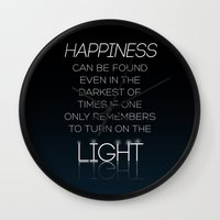 dumbledore Wall Clocks featuring Harry Potter Albus Dumbledore Quote by raeuberstochter